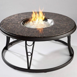 Outdoor GreatRoom - Outdoor GreatRoom 48 in. Granite Fire Pit Table Multicolor - CFP48-K - Shop for Fire Pits and Fireplaces from Hayneedle.com! Whether you re connecting over deep conversation or telling a few ghost stories the Outdoor GreatRoom 48 in. Granite Fire Pit Table is that perfect companion. The granite top sits atop a cast aluminum frame and the fireplace itself is designed to delight. The crystal fire stainless steel fire pit burner has an electronic piezo. The fireplace comes configured for use with liquid propane gas but also includes a natural gas adapter.About Outdoor GreatRoom CompanyWith over 50 patents to its name the Outdoor GreatRoom Company is one of the most innovative names in gas fireplaces and outdoor design period. Since 1975 Dan Ron Steve and Ger have produced a yard of amazing products like the Heat-N-Glo that have changed the industry. In fact they want to change the way you think about your backyard or patio. It's about bringing the luxury and comfort of the living room outside to make an Outdoor Room. They want you to literally think outside the box. To make that beautiful concept a reality Outdoor GreatRoom designs manufactures and sells pergolas outdoor kitchens grills outdoor furniture fireplaces fire pits lighting and heating products. There's no better name in outdoor leisure than this fine Minnesotan company.