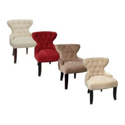 Office Star Products - Avenue Six Hour Glass Curves Chair - This hourglass shaped chair is as comfortable as it is attractive. Its plush fabric and fine wood finish create a look that will be a beautiful addition to any room.
