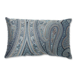 Pillow Perfect - Royal Paisley Blue Rectangular Throw Pillow - - Blues, beige and white hues weave together to create this exquisitely detailed paisley-printed throw pillow. Paisley has long stood as a timeless pattern and this color-fasted print will stand the test of time. Elegantly designed and well crafted, this crisp polyester pillow is the perfect stylish accent to your living decor  - Cover Material: 100 percent Polyester  - Fill Material: Plush Filling - 100 percent Polyester Fiber  - Measures: 18.5-Inches H X 11.5-Inches W X 5-Inches D  - Knife Edge and Sewn Seam Closure  - Spot Clean Only  - Made in the USA Pillow Perfect - 556819
