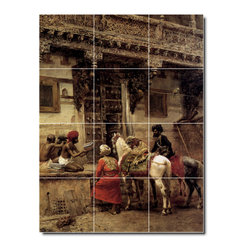Picture-Tiles, LLC - Craftsman Selling Cases By A Teak Wood Building Ahmedabad Tile M By Ed - * MURAL SIZE: 32x24 inch tile mural using (12) 8x8 ceramic tiles-satin finish.