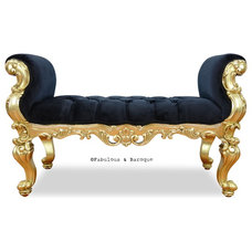 Eclectic Bedroom Benches by Fabulous & Baroque, LLC