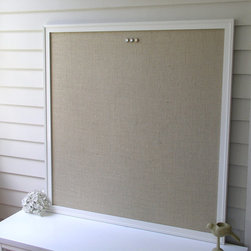 Supersized Burlap Magnetic Bulletin Board by Elegance Farm Homestead - A great big bulletin board is ideal for keeping track of inspirations, or just current to-do lists. This one is hand-painted and covered in nubby burlap.