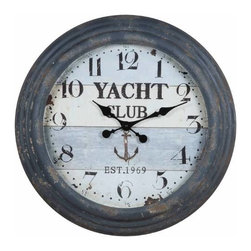 Cooper Classics - Rowland Nautical Clock - Perfect for the Yacht, Den or a gift for the Boss, this