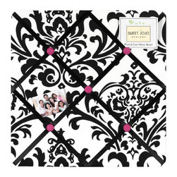 Sweet Jojo Designs - Isabella Hot Pink, Black and White Fabric Memo Board by Sweet Jojo Designs - The Isabella Hot Pink, Black and White Fabric Memo Board by Sweet Jojo Designs, along with the  bedding accessories.