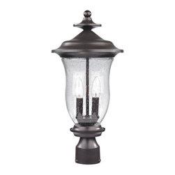 Cornerstone - Cornerstone 8002EP/75 Trinity 2 Light Post Lights & Accessories in Oil Rubbed Br - Post Lantern Medium