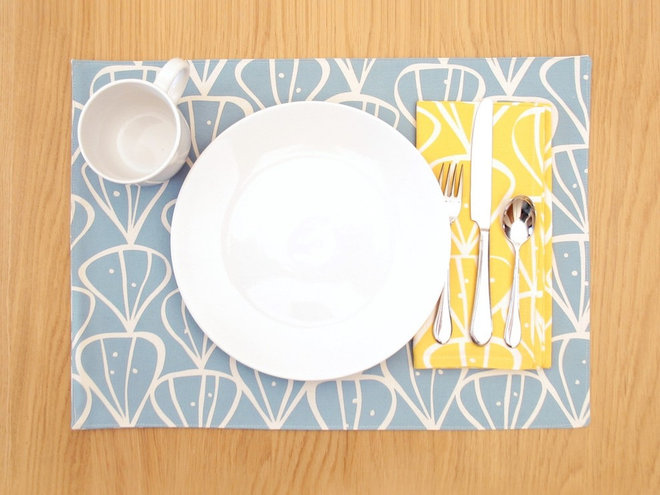 contemporary table linens by Design Public