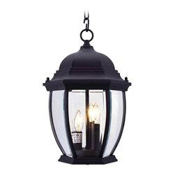 Livex Lighting - Livex Lighting 7539-04 Kingston Outdoor Pendant Black - -Finish: Black