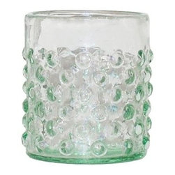 Recycled Lowball Glasses, Set of 4 - Recycled and handmade glassware.