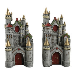 Sterling Industries - Sterling Industries 93-10092 Princess Castle Book Ends - Bookend (2)