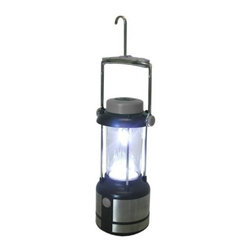 "Kay Home Products - Classic LED Lantern - 17"" - This lantern features 17 LED lights with dual brightness options and emits up to 80 lumens of illuminating output. Battery-operated, it can give up to 105 hours of light anywhere you need it, while the handy built-in compass means you can explore around, even after the sun has set. Built for all types of weather, it's great for outdoor activities from the backyard to the campsite. A handy built-in hanger makes it easy to hang from a branch or inside a tent.Features:"