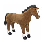 "Melissa and Doug - Horse Plush Stuffed Animal - This lovable, plush horse is one of the new additions to the plush family! So soft and cuddly, the Horse Plush Stuffed Animal is sure to generate excited neighs from its recipient. Premium quality and so incredibly low-priced that nearly anyone can start their own personal petting zoo! Features: -Ages 3+ -Dimensions: 35"" H x 43"" W x 12"" D"