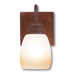 Avalanche-Ranch - Rustic Wasatch Single Sconce - Rustic Wall Lights - Indoor + Outdoor with Rustic Plain artwork - Takes (1) 100W Medium bulb(s)