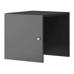 EXPEDIT Insert with door - Insert with door, black