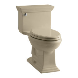 KOHLER - KOHLER Memoirs stately Comfort Height One-Piece Elongated 1.28 GPF Toilet - KOHLER K-3813-33 Memoirs stately Comfort Height One-Piece Elongated 1.28 GPF Toilet with Class Five flush system and left-hand trip lever in Mexican Sand