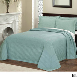 Vibrant Solid-colored Quilted French Tile Bedspread -