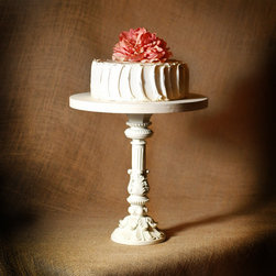Shabby Chic Pedestal Antiqued Cake Stand 12 by Roxy Heart Vintage - This cake stand is more on the very traditional side, but it's still stunning. I'm loving the new trend that adds height to stands.