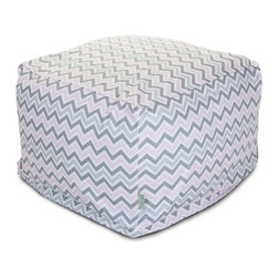 Majestic Home - Indoor Pink Zoom Zoom Large Ottoman - This awesome ottoman will bring some zigzag zing to your favorite casual setting. It functions as a footstool, coffee table or comfy seat (think: beanbag), plus the durable cotton-twill slipcover zips off for easy cleaning in the washing machine.