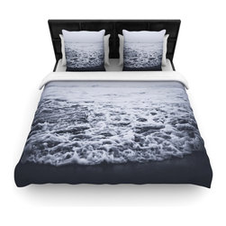 "Kess InHouse - Leah Flores ""Out to Sea"" Gray Coastal Fleece Duvet Cover (Queen, 88"" x 88"") - You can curate your bedroom and turn your down comforter, UP! You're about to dream and WAKE in color with this uber stylish focal point of your bedroom with this duvet cover! Crafted at the click of your mouse, this duvet cover is not only personal and inspiring but super soft. Created out of microfiber material that is delectable, our duvets are ultra comfortable and beyond soft. Get up on the right side of the bed, or the left, this duvet cover will look good from every angle."
