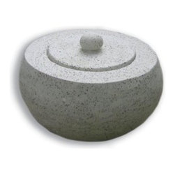 Deeco Terrazzo Fire Pot Tabletop Gel Fire Bowl - Simple and modern the Deeco Terrazzo Fire Pot Tabletop Gel Fire Bowl can be used both indoors and outdoors thanks to its gel fuel power. -Mantels Direct