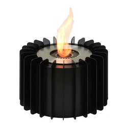 """Ignis Fireplaces - Ignis EBG150, Fireplace Grate - Transform your old wood-burning fireplace into a sleek eco-friendly unit with the addition of this Ethanol Fireplace Grate. It holds 1.5 liters of eco-conscious ethanol and can burn for a full six hours on just one refill without releasing any noxious gases soot or smoke that can irritate your family's lungs or cause breathing difficulties. It is easy to install in just minutes. This unit is modern and chic and offers 5 000 BTUs of heat to keep you warm in any room without the need for a chimney. As an added bonus this burner and grate unit comes with a damper tool. Comes with EB150 Ethanol Burner Insert. Dimensions: Grate: 9.5"""" x 9.5"""" x 7"""". Burner: 6"""" x 6"""" x 6.25""""."""