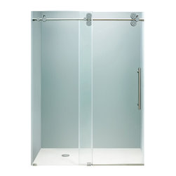 "VIGO Industries - VIGO 60-inch Frameless Shower Door 3/8"" Clear/Chrome Hardware - Make your bathroom an oasis with a VIGO frameless shower door."