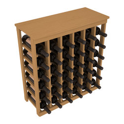 Wine Racks America - 36 Bottle Kitchen Wine Rack in Ponderosa Pine, Oak Stain - A small wine rack with big storage. This wine rack kit is the best choice for converting tiny spaces into big wine storage. The solid wood top excels as a table for wine accessories, small plants, and wine collectables. Store 3 cases of wine properly in a space smaller than most entry tables!