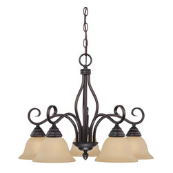 Savoy House Lighting - Savoy House Lighting 1P-80103-5-13 Chandelier Traditional Classic Chandelier - 5-Light Chandelier with rich English Bronze finish, Tinted Scavo glass, and elegant classic styling.