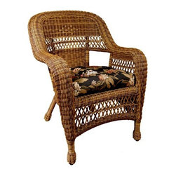 Fifthroom - Wicker Sands Chair w/ Cushion - Give your porch, patio, or gazebo some old-fashioned charm, in 21st century style. Made from an ultra-strong, incredibly durable Synthetic material, our stunning Wicker Sands Chair is designed to duplicate the look of authentic Wicker. Available in five rich colors, this amazing chair comes with a Free Cushion in your choice of five beautiful patterns and colors.