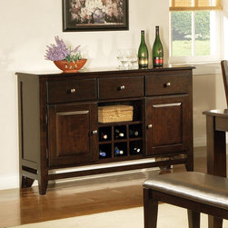 Steve Silver Furniture - Steve Silver Victoria Server - A modern classic  the Mango Server yields functional design and solid wood construction. Defined as casually elegant  the mango finish adds depth and character to this truly transitional piece.