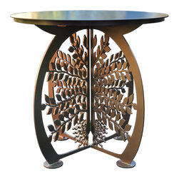 Cricket Forge - Tree of Life Patio Table - The Tree of Life is a metaphor in science, religion, philosophy and mythology. It has meaning in nearly every culture across the globe, connecting us to one another. The beauty and boldness of this table draws our attention and the thoughtful design roots us in the culture and history of the human race. Beautiful when paired with the Tree of Life Bench and Tree of Life Chair.