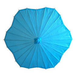 Oriental-Décor - Scalloped Aqua Parasol - The shapely cousin of our Round Aqua Parasol, the Scalloped Aqua Parasol is a pretty, contemporary spin on a classic design.  Parasols have been used for decades by Chinese women as a versatile, yet practical feminine accessory.  Our wide selection of paper umbrellas  made from oiled paper and wood  will not leave you coming up short for style options.  They feature solid construction and an intricate, textured detail.  Now you can affordably import a little bit of the exotic into your accessory collection, and have a piece that will put you front and center; everyone will be asking you where you got your parasol.  Our paper umbrellas are a chic way to show off your sophisticated taste and modern sense of style.  Youll love twirling this umbrella as you walk arm-in-arm with that special someone down the boardwalk or out on a grand concourse.  When that special occasion calls for a truly special outfit, you want to have the perfect accessories to take it to the next level.  Our paper parasols will make any