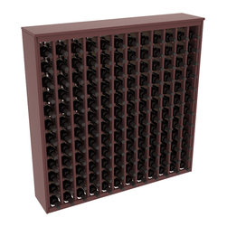 Wine Racks America - 144 Bottle Deluxe Wine Rack in Ponderosa Pine, Walnut Stain + Satin Finish - Store 12 full cases in this wine rack furniture style storage. This wood wine rack is designed to look like a freestanding wine cabinet. Solid top and side enclosures promote the cool and dark storage area necessary for aging your wine properly.