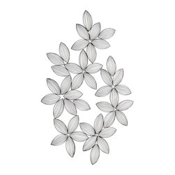 Cyan Design - Cyan Design Glynne Modern / Contemporary Wall Decor X-34650 - Almond-shaped leaves are given a modern look through the use of wire framing on this Cyan Design wall art. From the Glynne Collection, this contemporary wall decor is pieced together in a wreath-inspired shape and complimented by a Graphite finish.
