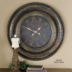 "6738 Brilane, Clock by Uttermost - Get 10% discount on your first order. Coupon code: ""houzz"". Order today."