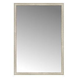 """Posters 2 Prints, LLC - 42"""" x 61"""" Libretto Antique Silver Custom Framed Mirror - 42"""" x 61"""" Custom Framed Mirror made by Posters 2 Prints. Standard glass with unrivaled selection of crafted mirror frames.  Protected with category II safety backing to keep glass fragments together should the mirror be accidentally broken.  Safe arrival guaranteed.  Made in the United States of America"""