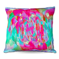 DiaNoche Designs - Pillow Woven Poplin from DiaNoche Designs by Ruth Palmer - Hot Pink Chards - Toss this decorative pillow on any bed, sofa or chair, and add personality to your chic and stylish decor. Lay your head against your new art and relax! Made of woven Poly-Poplin.  Includes a cushy supportive pillow insert, zipped inside. Dye Sublimation printing adheres the ink to the material for long life and durability. Double Sided Print, Machine Washable, Product may vary slightly from image.