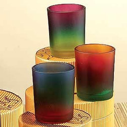 Artico - 3 Tone Candle Holder Votive Tealight Colorful Tie-Dye, Set of 3 - This gorgeous 3 Tone Candle Holder Votive Tealight Colorful Tie-Dye, Set of 3 has the finest details and highest quality you will find anywhere! 3 Tone Candle Holder Votive Tealight Colorful Tie-Dye, Set of 3 is truly remarkable.