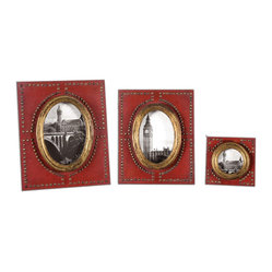 Abeo Red Photo Frames, Set of 3