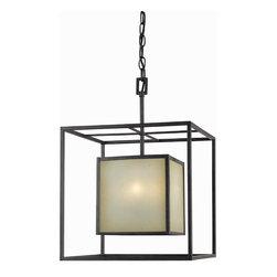 World Imports - World Imports Hilden 4-Light chandelier, Warm Mahogany (4115-55) - World Imports 4115-55 Hilden 4 Light chandelier, Warm Mahogany