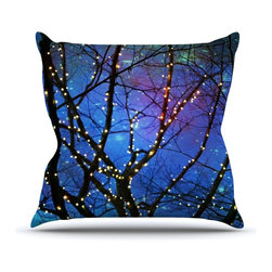 """Kess InHouse - Sylvia Cook """"Holiday Lights"""" Christmas Throw Pillow (Outdoor, 16"""" x 16"""") - Decorate your backyard, patio or even take it on a picnic with the Kess Inhouse outdoor throw pillow! Complete your backyard by adding unique artwork, patterns, illustrations and colors! Be the envy of your neighbors and friends with this long lasting outdoor artistic and innovative pillow. These pillows are printed on both sides for added pizzazz!"""