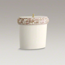 KOHLER - KOHLER Briar Rose design on Revival(R) toilet tank - Inspired by the graceful beauty of climbing roses, Briar Rose features a bramble of English roses in soft shades of pink, green, and brown. The enchanting pattern adorns a Revival toilet tank, which displays the rolled edges and elliptical shapes of vinta