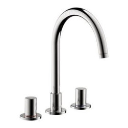 Axor - Hansgrohe - Axor Uno Widespread Lavatory - 38053001 - Chrome - Axor Uno is a faucet collection with high, slender basic forms that can be incorporated into any bathroom environment. As a minimalist classic, it gives people the space to develop their own personalities. The understated style of Axor Uno is based on a clear, geometrical design.