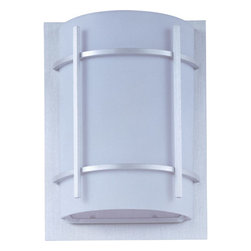 Maxim Lighting - Maxim Lighting 85215WTBM Luna Ee 1 Light Outdoor Wall Lights in Brushed Metal - Luna EE, a contemporary style collection from Maxim Lighting, features both indoor and outdoor sconces, pendants and flush mounts available in three finishes, Brushed Metal, Natural Iron or Oil Rubbed Bronze.