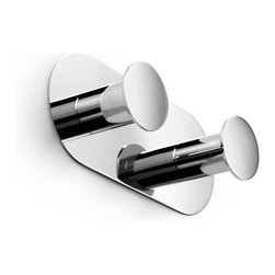 Napie 53082 Bathroom Hook - Napie by WS Bath Collections Bathroom Double Hook in Polished Chrome