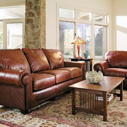 Design Studio - Stickley Sante Fe leather sofa