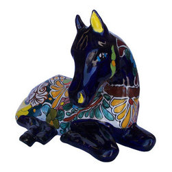 "Stallion - This is a beautiful piece to show at any place. 17"" X 12"" X 11"". Shown in Multicolor-Cobalt"