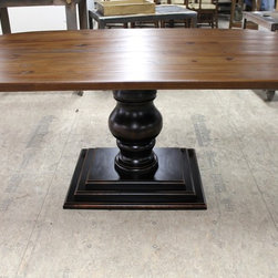 racetrack farmhouse table - Made by http://www.ecustomfinishes.com