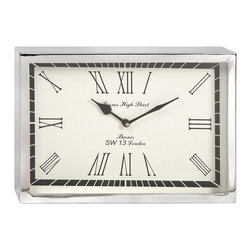 IMAX Imports - Wadsworth Small Wall Clock - This contemporary, art deco inspired wall clock will bring a sophisticated touch of mid-century aesthetic to office or home right on time.
