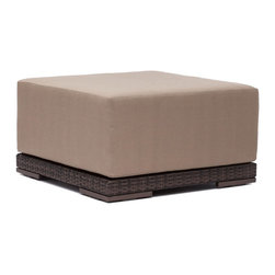 Zuo Modern - Zuo Modern 703023 Park Island Ottoman Brown - Sit in comfort on the Park Island Ottoman. Made from an aluminum frame with a polypropylene weave. The overstuffed cushions are UV and water resistant. Sink into the Park Island and enjoy!