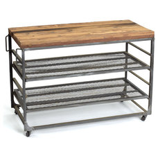 Industrial Kitchen Islands And Kitchen Carts by Indeed Decor